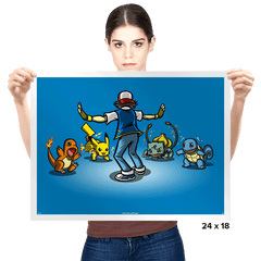 Gotta Train Em All! - Prints - Posters - RIPT Apparel