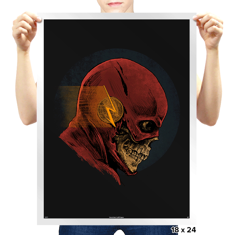 Speeding Skull - Prints - Posters - RIPT Apparel