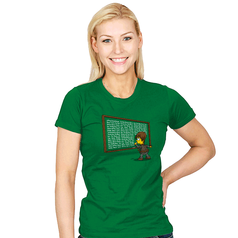 All characters must die! - Womens - T-Shirts - RIPT Apparel