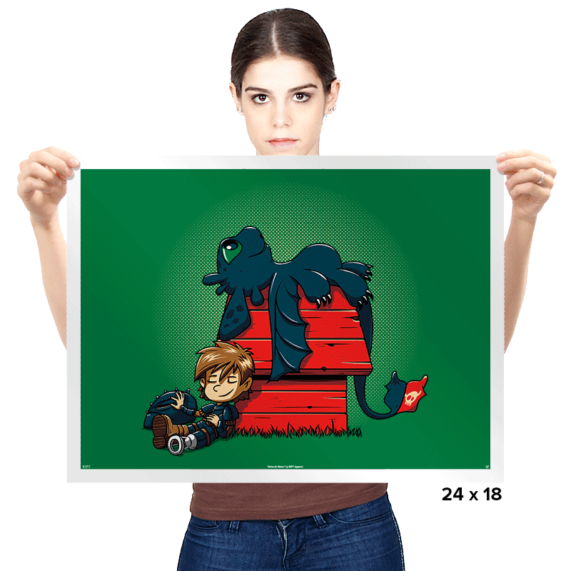 Dragon Peanuts - Prints - Posters - RIPT Apparel