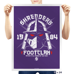 Shredhead's Foot Clan - Prints - Posters - RIPT Apparel