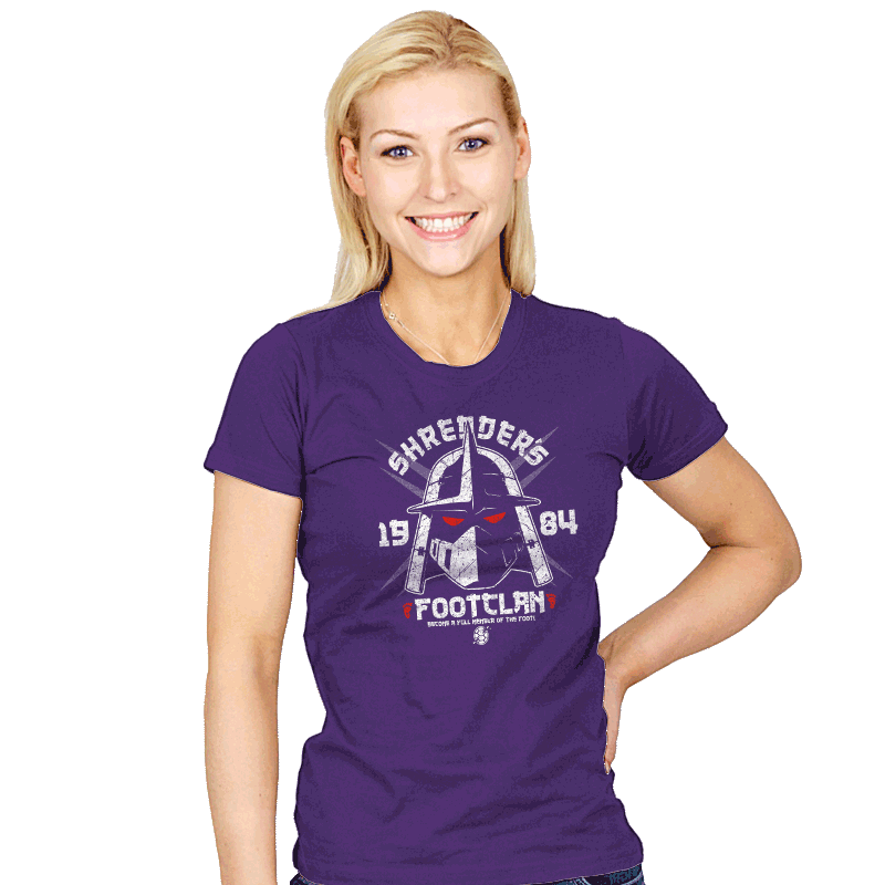 Shredhead's Foot Clan - Womens - T-Shirts - RIPT Apparel