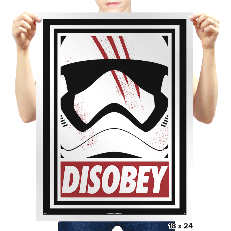 Disobey The Order - Prints - Posters - RIPT Apparel