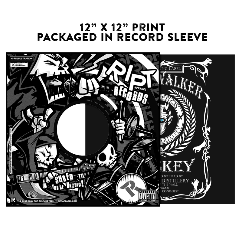 White Whiskey  - Album Cover Prints - Posters - RIPT Apparel