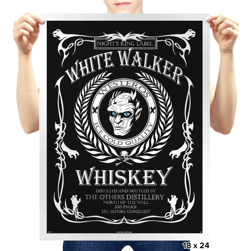White Whiskey  - Prints - Posters - RIPT Apparel