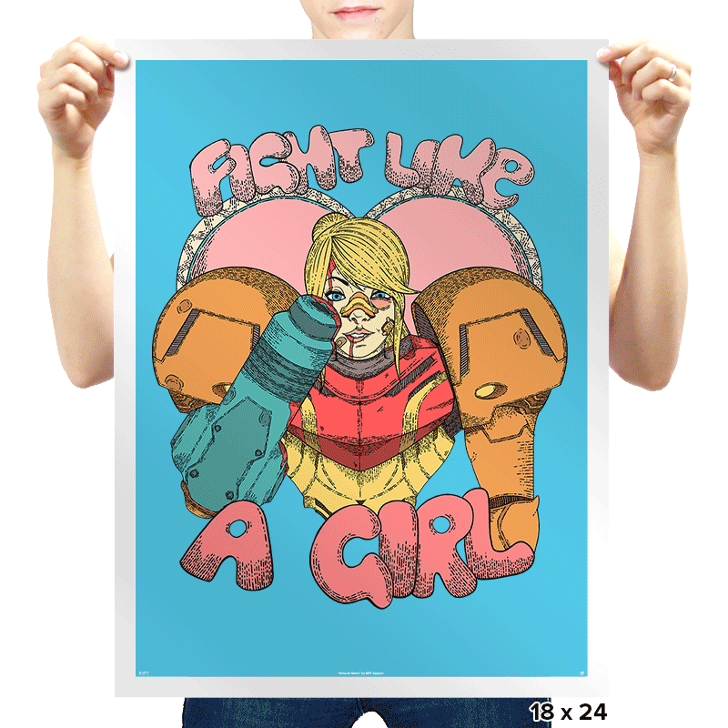 Fight Like A Bounty Girl - Prints - Posters - RIPT Apparel