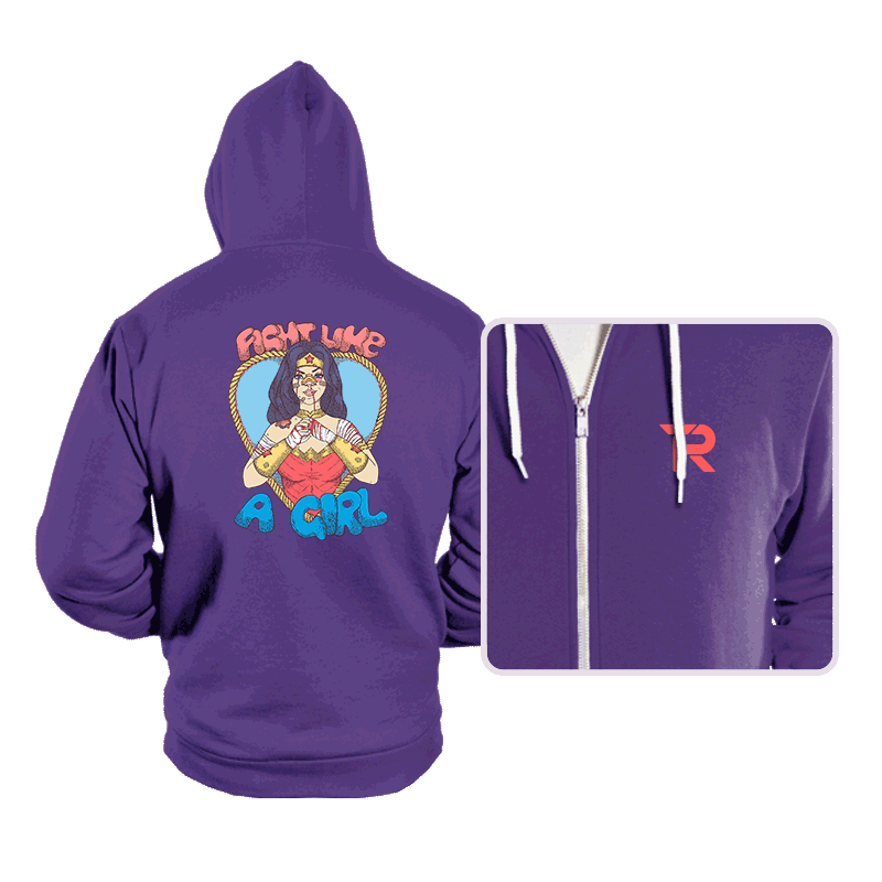 Fight Like A Woman - Hoodies - Hoodies - RIPT Apparel
