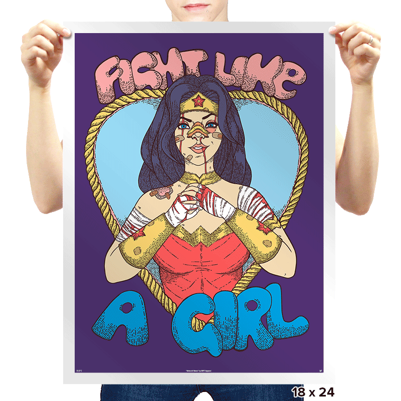 Fight Like A Woman - Prints - Posters - RIPT Apparel