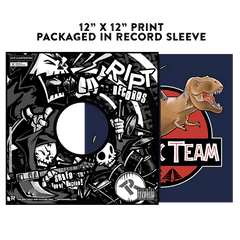 Jurassic Team - Album Cover Prints - Posters - RIPT Apparel