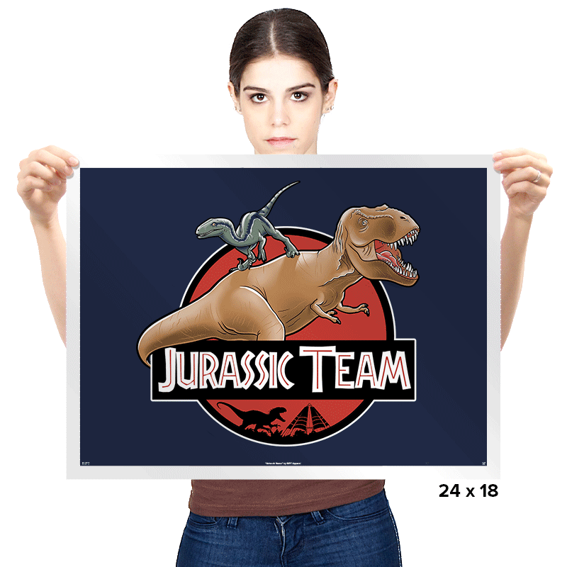 Jurassic Team - Prints - Posters - RIPT Apparel