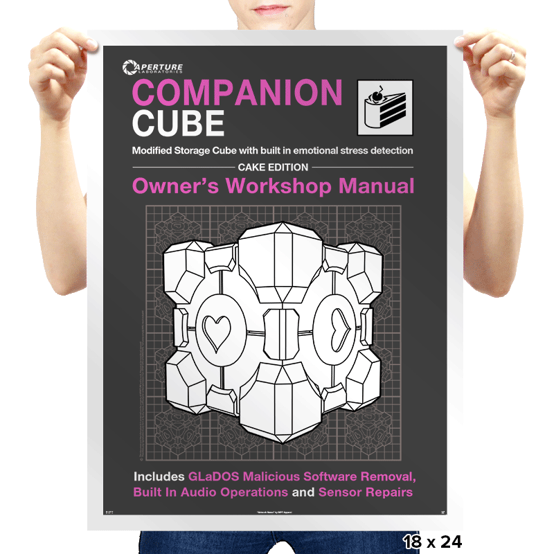Companion Cube Manual - Prints - Posters - RIPT Apparel