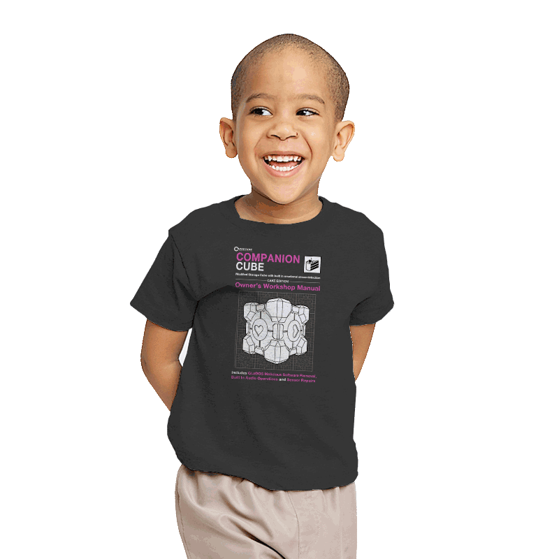 Companion Cube Manual - Youth - T-Shirts - RIPT Apparel