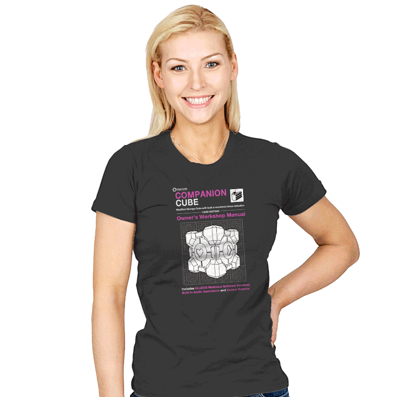 Companion Cube Manual - Womens - T-Shirts - RIPT Apparel