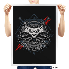 White Wolf - Prints - Posters - RIPT Apparel