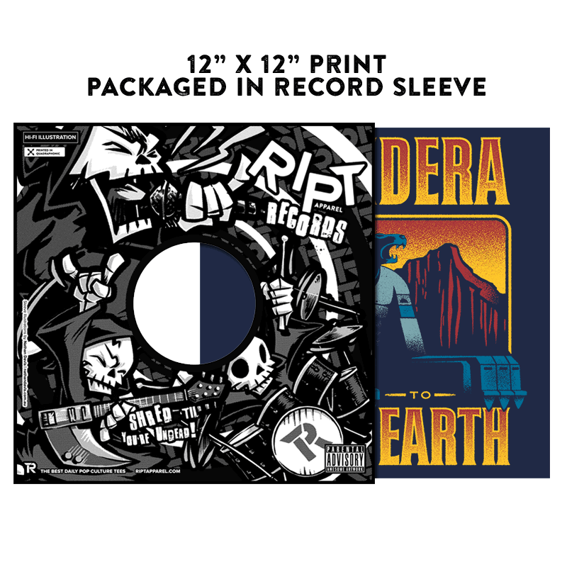 Thundera to Third Earth - Album Cover Prints - Posters - RIPT Apparel