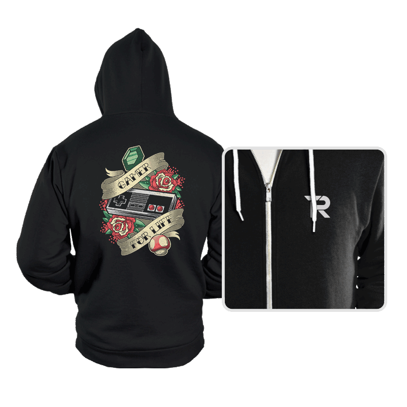 Gamer for Life - Hoodies - Hoodies - RIPT Apparel