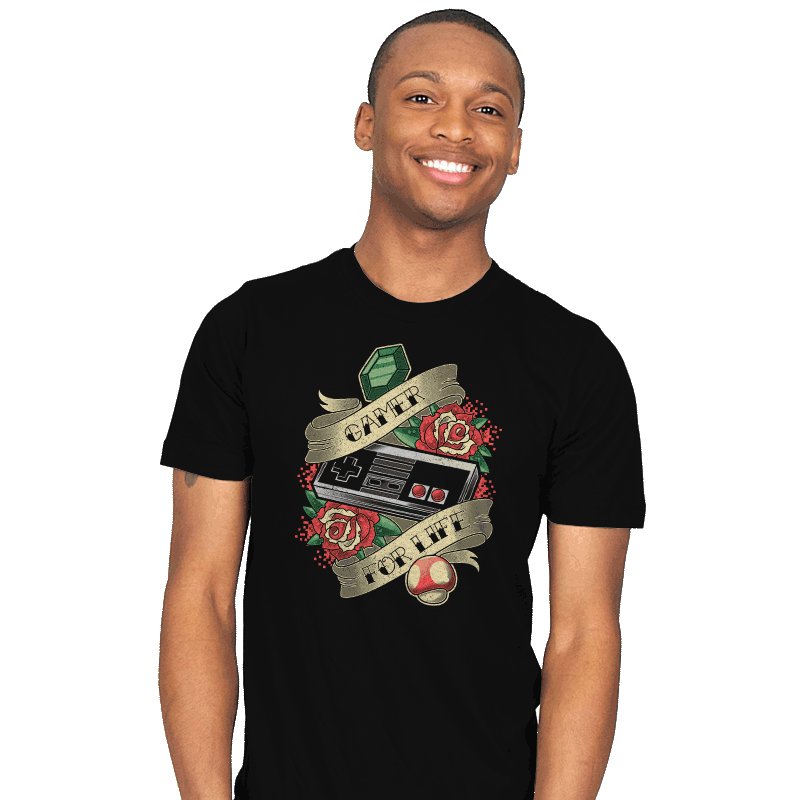 Gamer for Life - Mens - T-Shirts - RIPT Apparel