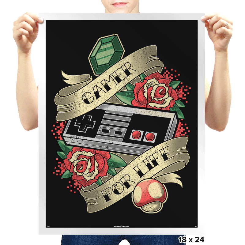 Gamer for Life - Prints - Posters - RIPT Apparel