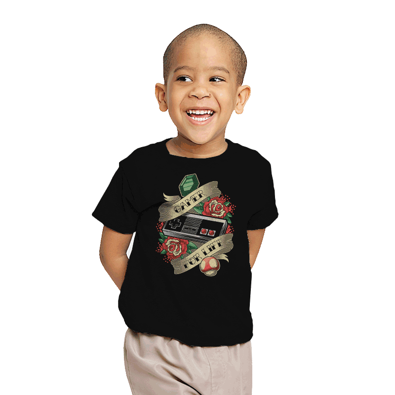 Gamer for Life - Youth - T-Shirts - RIPT Apparel
