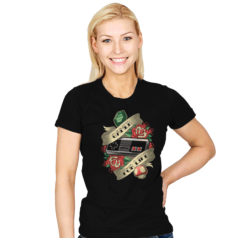 Gamer for Life - Womens - T-Shirts - RIPT Apparel