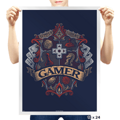 Gamer Crest - Prints - Posters - RIPT Apparel