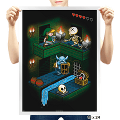 Through the Dungeon - Prints - Posters - RIPT Apparel
