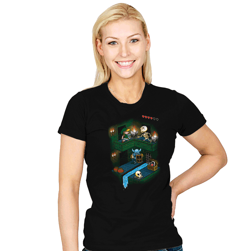 Through the Dungeon - Womens - T-Shirts - RIPT Apparel