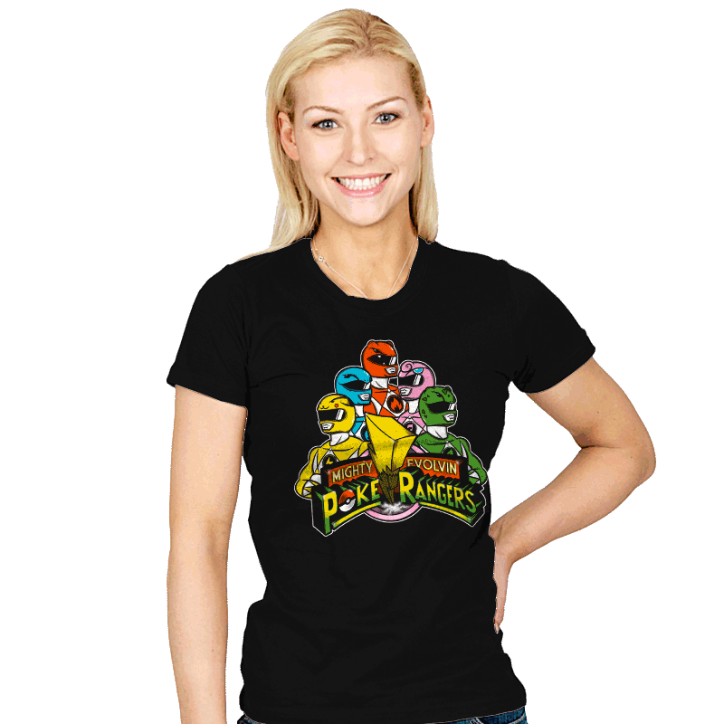 Poke Rangers - Womens - T-Shirts - RIPT Apparel