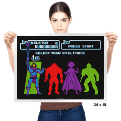 Select Your Evil Force - Prints - Posters - RIPT Apparel