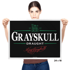 Gray Draught - Prints - Posters - RIPT Apparel