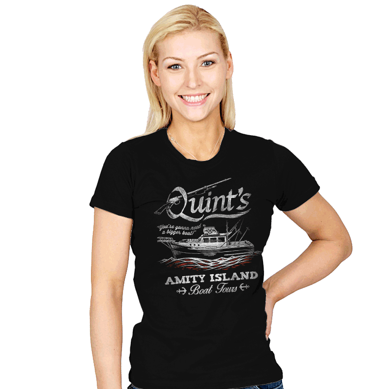 Quint's Boat Tours - Womens - T-Shirts - RIPT Apparel