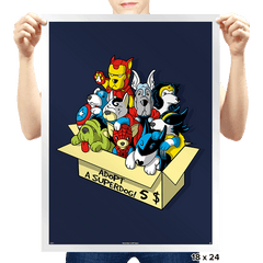 Adopt a SuperDog - Prints - Posters - RIPT Apparel