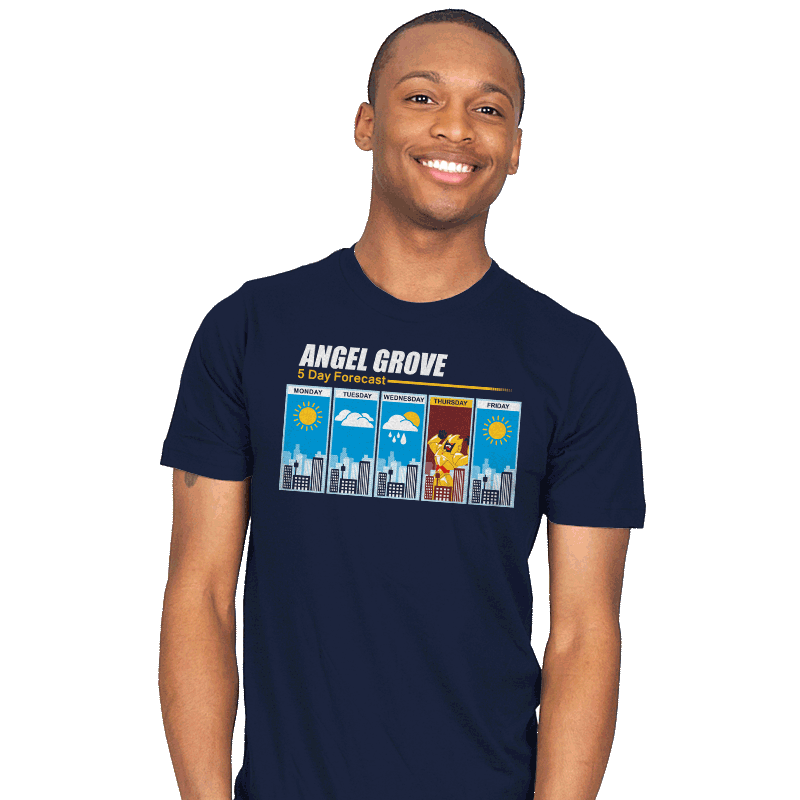 Angel Grove Forecast - Mens - T-Shirts - RIPT Apparel