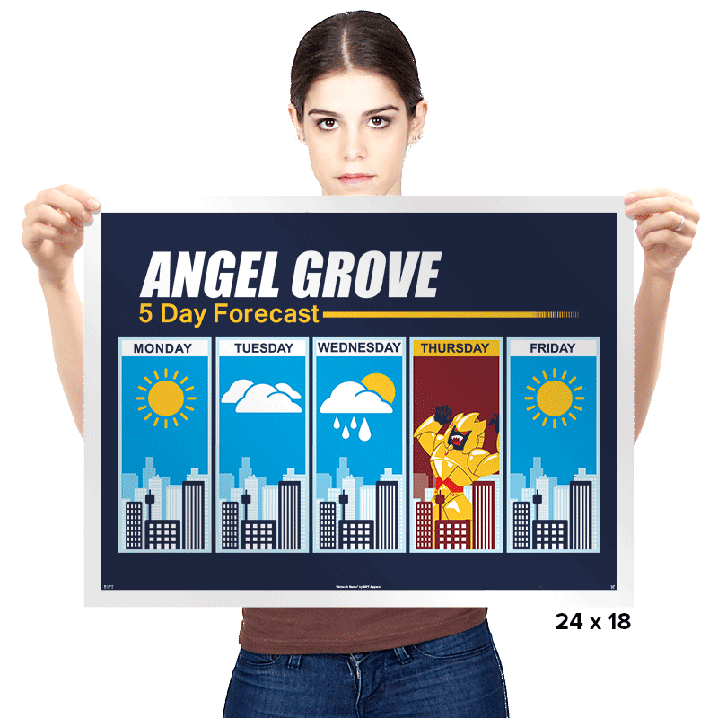 Angel Grove Forecast - Prints - Posters - RIPT Apparel