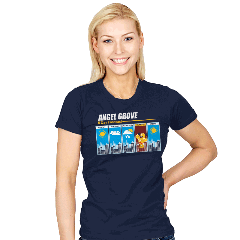 Angel Grove Forecast - Womens - T-Shirts - RIPT Apparel