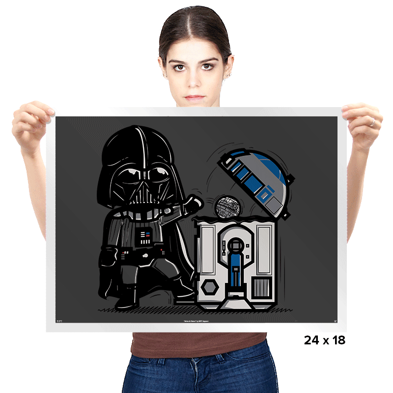 Robotic Trashcan - Prints - Posters - RIPT Apparel