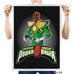 Green Power Rager - Prints - Posters - RIPT Apparel