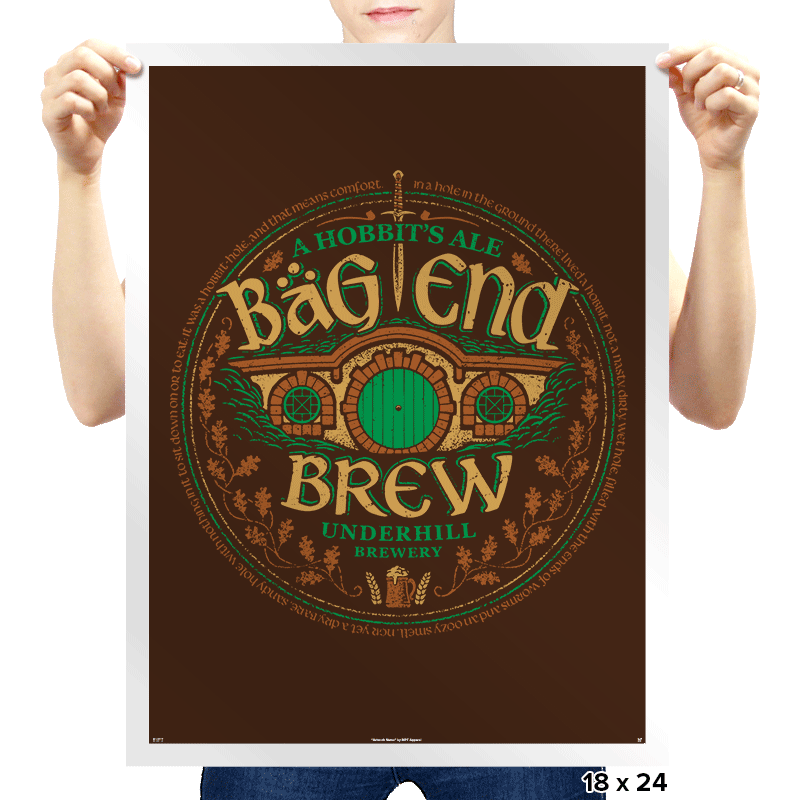 Bag End Brew - Prints - Posters - RIPT Apparel