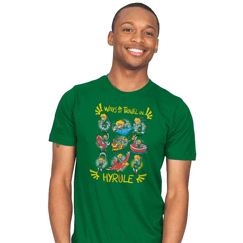 Ways of Travel in Hyrule - Mens - T-Shirts - RIPT Apparel