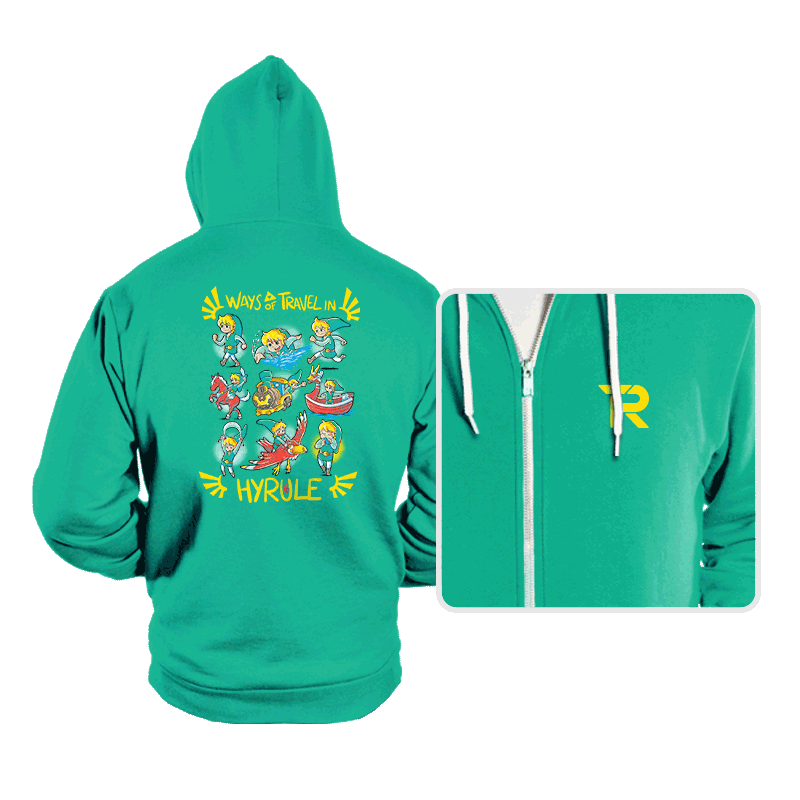 Ways of Travel in Hyrule - Hoodies - Hoodies - RIPT Apparel
