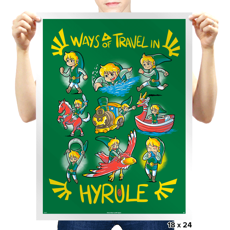 Ways of Travel in Hyrule - Prints - Posters - RIPT Apparel