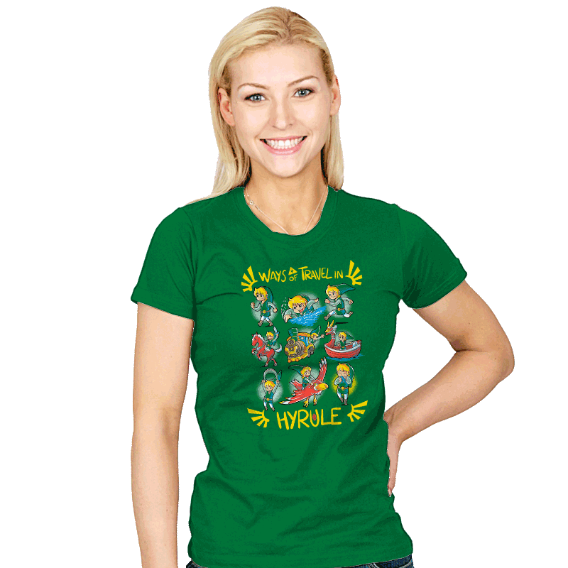 Ways of Travel in Hyrule - Womens - T-Shirts - RIPT Apparel