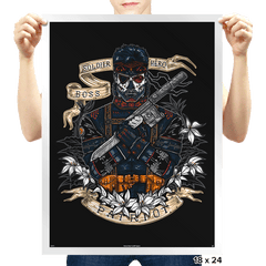 Day of the Dead Patriot - Prints - Posters - RIPT Apparel
