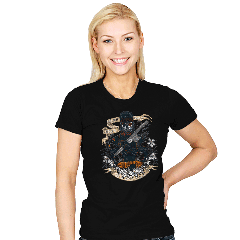 Day of the Dead Patriot - Womens - T-Shirts - RIPT Apparel