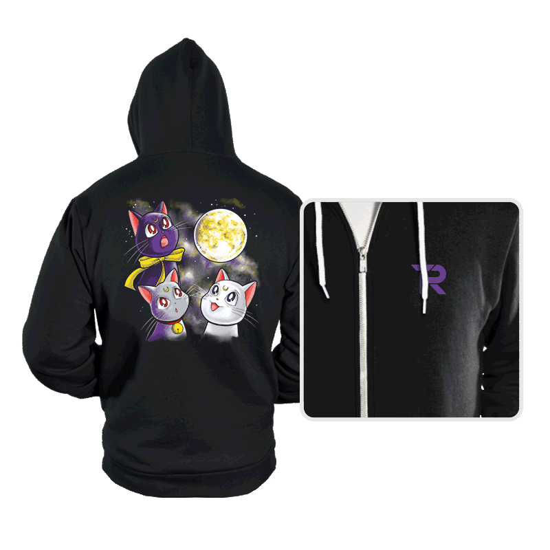 Three Moon Cats - Hoodies - Hoodies - RIPT Apparel