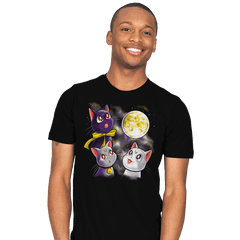 Three Moon Cats - Mens - T-Shirts - RIPT Apparel