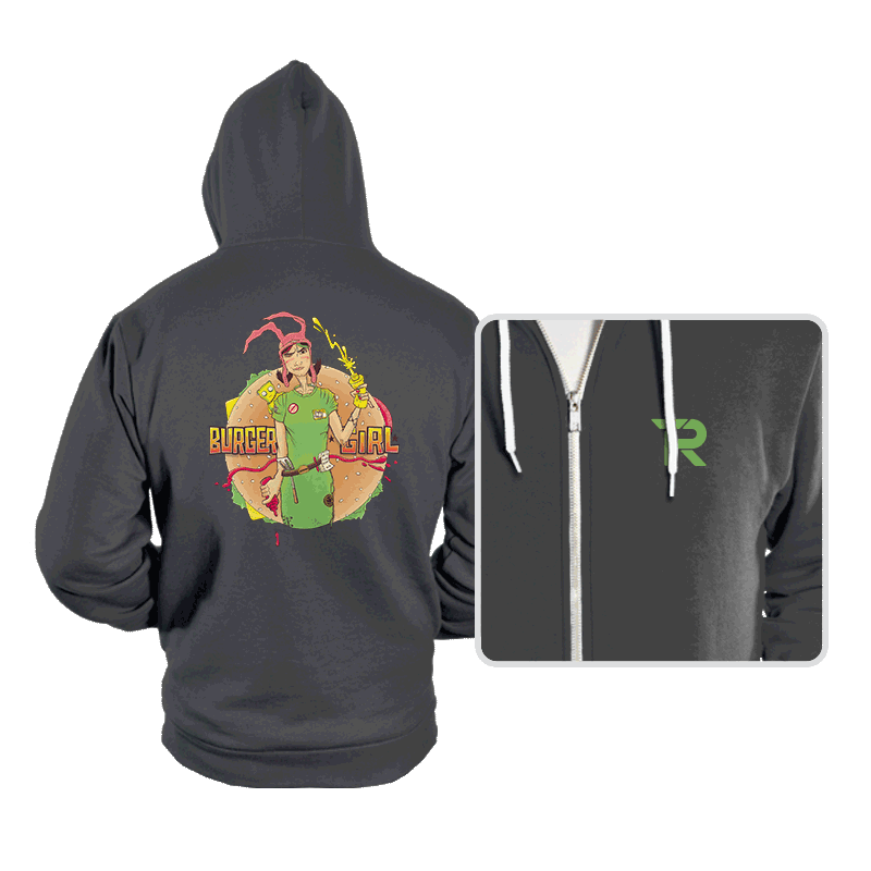 Burger Girl - Hoodies - Hoodies - RIPT Apparel