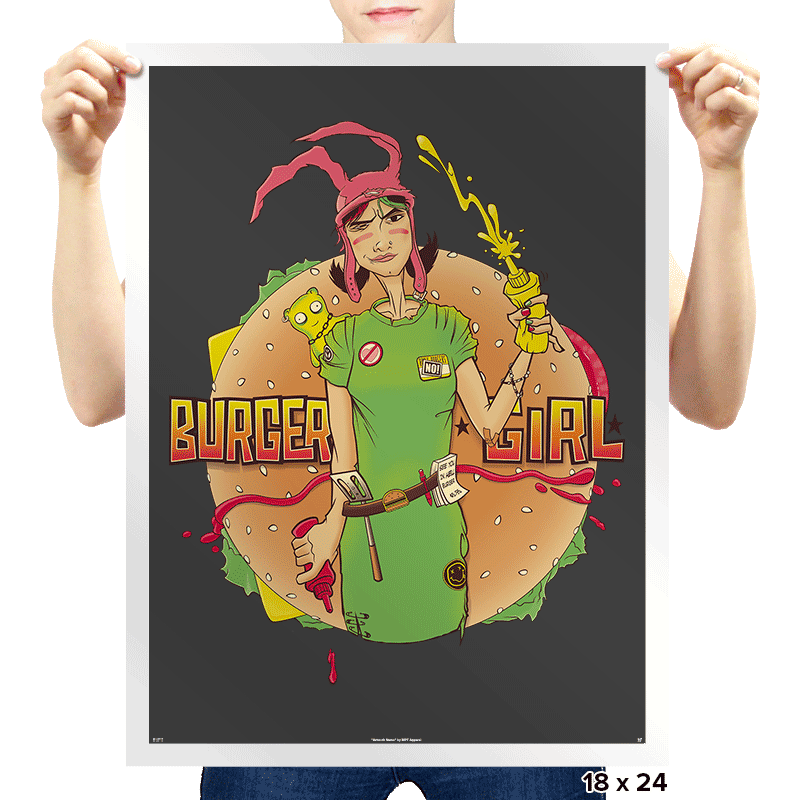 Burger Girl - Prints - Posters - RIPT Apparel