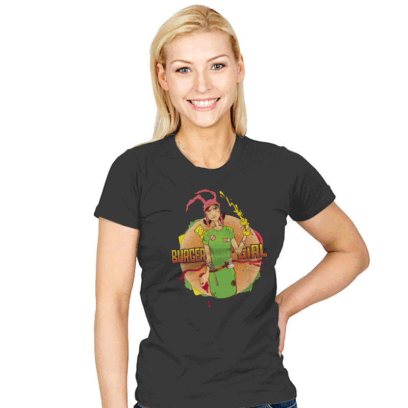 Burger Girl - Womens - T-Shirts - RIPT Apparel