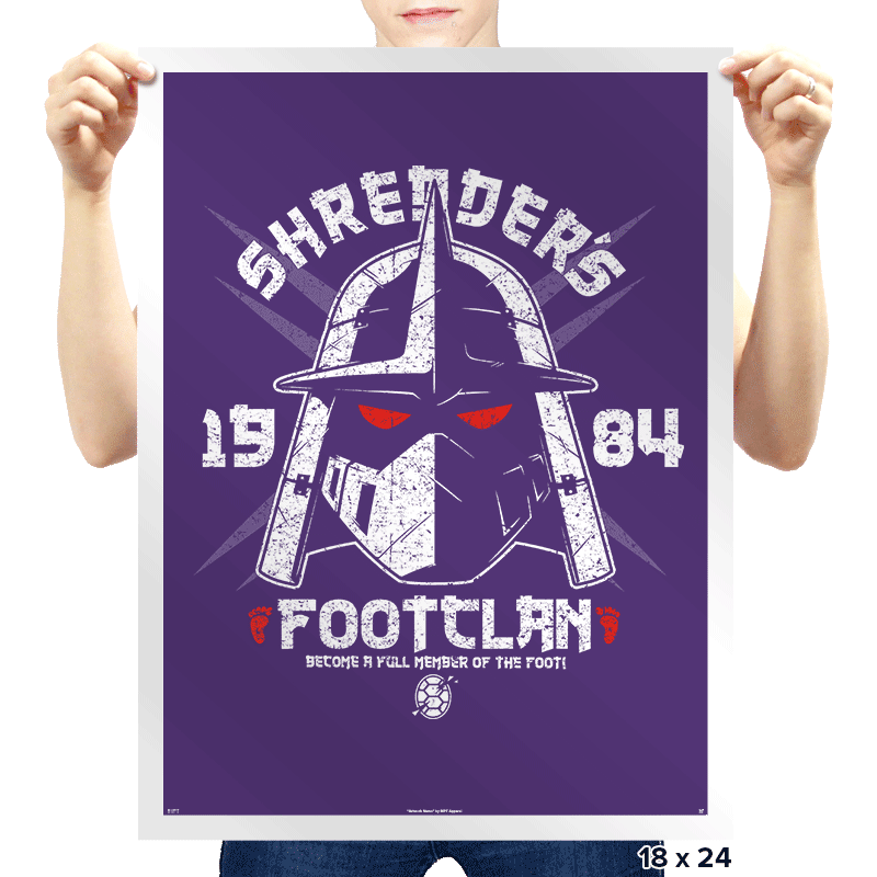 Shredhead's Foot Clan Exclusive - Prints - Posters - RIPT Apparel